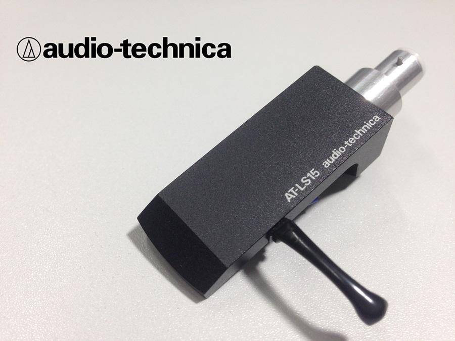 美品 audio-technica AT-LS15 ヘッドシェル 重量約15g リード線付 (HE10)
